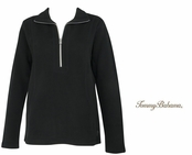Black Aruba Half Zip Sweatshirt by Tommy Bahama