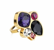 Glam Noir Fashionista Ring