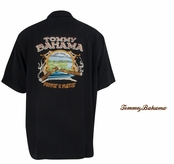Desert Marlin Puffin and Playin Silk Camp Shirt by Tommy Bahama