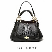 CC Skye Black Hornback Lady Bag