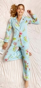 BedHead New York Botanical Aqua Classic Stretch PJ Set