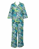Tropical Floral Pick of the Bunch Notch Collar PJ by Lilly Pulitzer