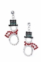 Crystal Snowman Cut Out Earrings