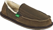 Men's Brown Donny Primo Shearling Sidewalk Surfers by Sanuk