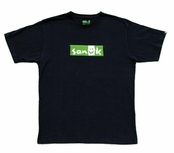 Sanuk Men's Black Flag Logo Short Sleeve Tee