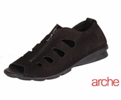 Arche Black Denzor Nubuck Leather Sandals