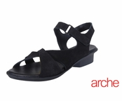 Arche Black Fanori Nubuck Leather Sandals