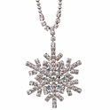 Let It Snow Snowflake Necklace by Kirks Folly