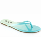 Tkees Blends Collection Blue Breeze Leather Sandals
