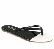 Tkees French Tips Collection Black Tie Leather Sandals