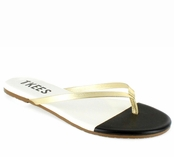 Tkees French Tips Collection Night Glare Leather Sandals