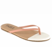 Tkees French Tips Collection Ivory Sand Leather Sandals