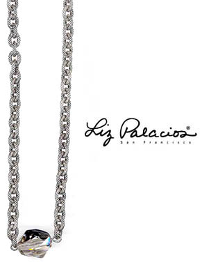 Silver Shade Cosmic Swarovski Crystal Necklace by Liz Palacios