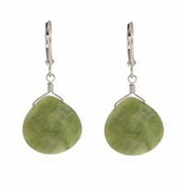 Baked Beads Olive Faceted Drop Earrings