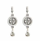 Baked Beads Circle of Stars Crystal Drop Earrings