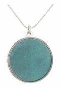 Baked Beads Dark Aqua Reversible Pendant Necklace