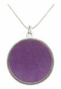 Baked Beads Amethyst Reversible Pendant Necklace