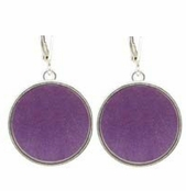 Baked Beads Amethyst Reversible Drop Earrings