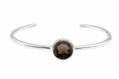 Smoky Quartz Sterling Silver Cuff Bracelet by Baroni
