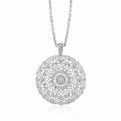 Crystal Vintage Filigree Medallion Necklace