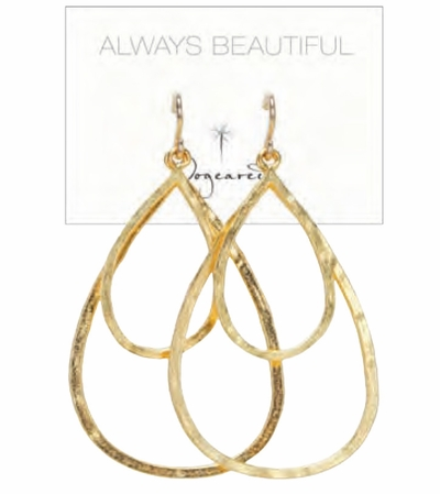 Dogeared Gold Dipped Double Teardrop Earrings
