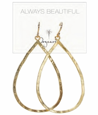 Dogeared Gold Dipped Large Teardrop Earrings