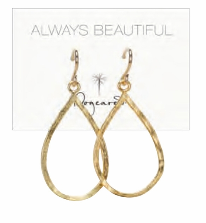 Dogeared Gold Dipped Small Teardrop Earrings