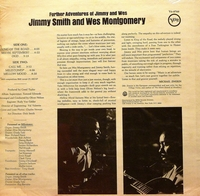 JIMMY SMITH AND WES MONTGOMERY - FURTHER ADVENTURES OF JIMMY AND WES  Record/LP (SEALED)