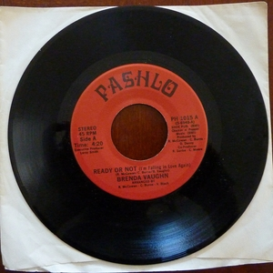 BRENDA VAUGHN - READY OR NOT/NATURE'S CALLING Record/45 rpm (RARE)