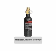 3.5oz CO2 Elite Tank Cylinder with On/Off Valve (Empty)