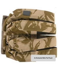 Horizontal 4x MOLLE Paintball Pod Pouch