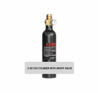 5oz CO2 Tank Cylinder with On/Off Valve (Empty)