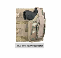 MOLLE SWAT Tactical Cross Draw Holster (Right - Small)