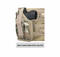 MOLLE SWAT Tactical Cross Draw Holster (Left - Small)