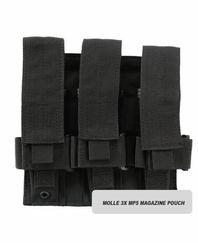 MOLLE 3X MP5 Magazine Pouch for Tactical Vest
