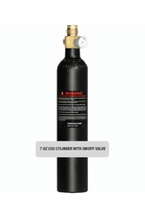 7oz CO2 Cylinder with On/Off Valve (Empty)