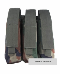 MOLLE 3X Pod Pouch for Tactical Vest