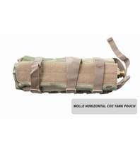 MOLLE Horizontal CO2 Tank Pouch (Small) (Eight Color)