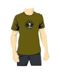 Tippmann Skull Paintball T-Shirt - Olive