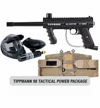 Tippmann 98 Custom Platinum with ACT Tactical Power Package