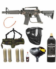 US ARMY Alpha Black Tactical Tippmann MEGA Gun Set CAMO