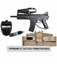 Tippmann X7 Paintball Marker with Electronic Trigger Tactical Power Package