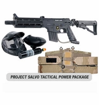 US Army Project Salvo Paintball Marker with Electronic Trigger Tactical Power Package