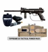 Tippmann A-5 Paintball Marker and Response Trigger Tactical Power Package