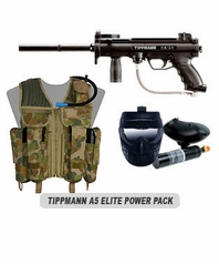 Tippmann A-5 Paintball Marker Elite Power Package