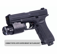 RAP4 Combat Paintball Pistol with Super Bright Quick Detachable Flashlight