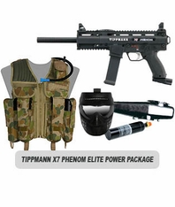 Tippmann X7 Phenom Paintball Marker Elite Power Package
