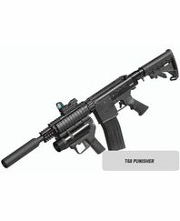 T68 Punisher Paintball Gun Kit with Marker