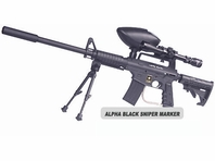 US Army Alpha Black Sniper Kit with Marker Package