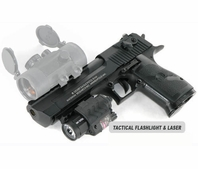 Desert Eagle Paintball Pistol and Quick Detachable Tactical Flashlight with Laser Combo